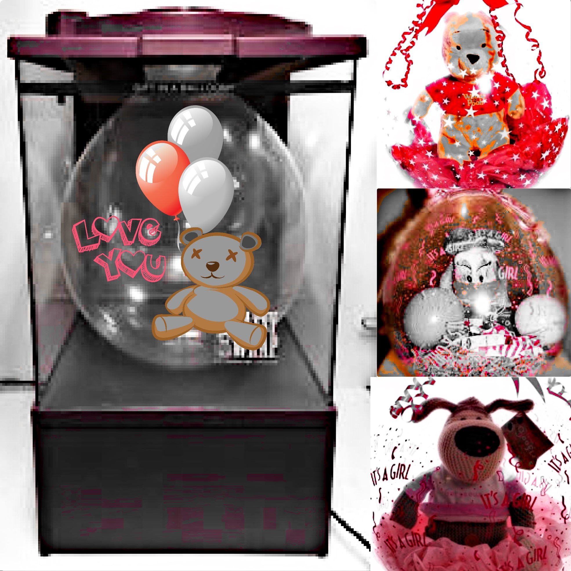 balloon gift wrapping machine